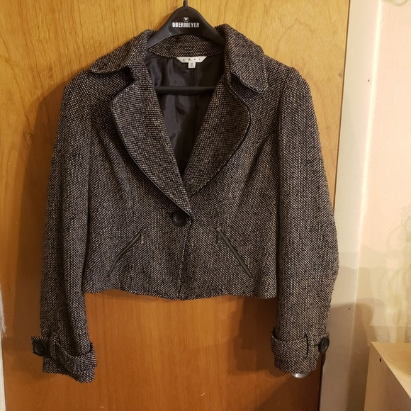 CAbi Jackets & Blazers - Cabi wool blend tweed blazer jacket